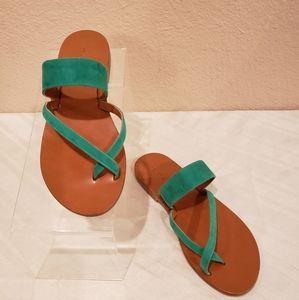 "M. Gemi ""The Medio"" Green Sandals"